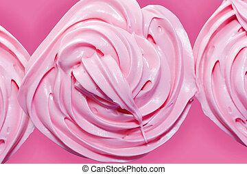 핑크, 서리로 덥음, 컵케이크