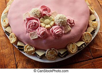 핑크, 케이크, 생일