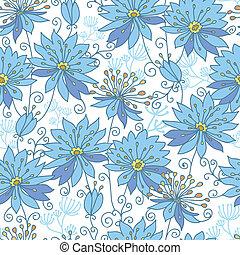 하늘의, 꽃, seamless, 패턴, 배경