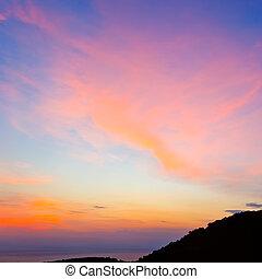 하늘, 일몰, 다채로운