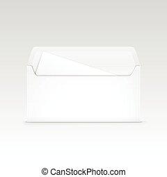 하얀 봉투, 고립된, 공백