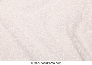 하얀 타월, 천, 파편, 가령...와 같은, a, 직물