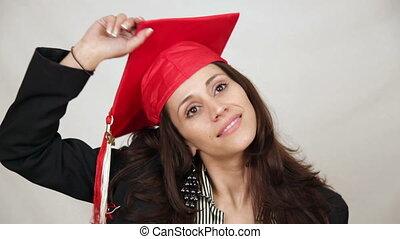 학생, 던지는 것, 눈금 모자