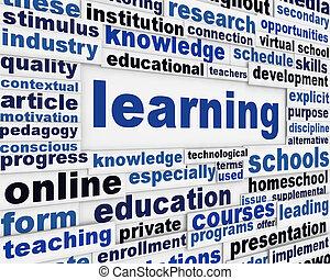 학습, 포스터, 개념