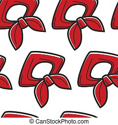 한국, 북쪽, 패턴, 상징, seamless, 개척자, neckerchief