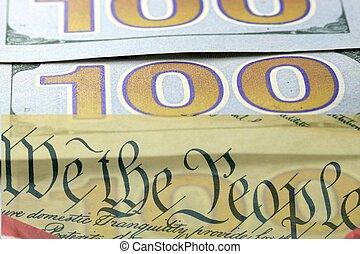 한 나라를 상징하는, 개념, 천장, 빚