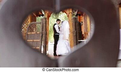 한 쌍, 결혼한, 사랑