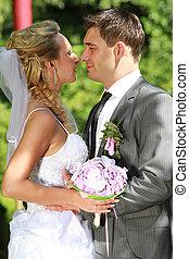 한 쌍, 남을 사랑하는, 결혼식