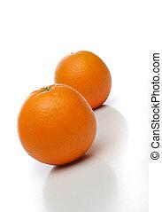 한 쌍, 수분이 많은, 오렌지