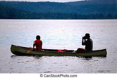 한 쌍, 에서, 카누
