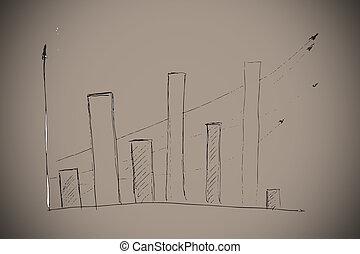 합성물 심상, 의, 막대 그림표, 낙서