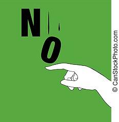 항의, 포스터, 치고는, 아니오