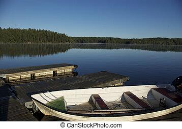 해돋이, 에, 스웨덴어, 호수