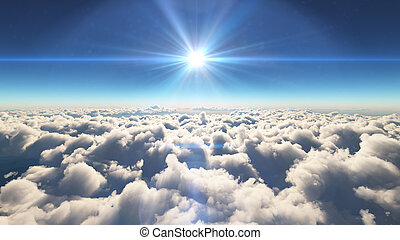 해돋이, 이상, 에서, 구름