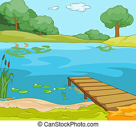 해안, 호수