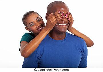 행복하다, 나이 적은 편의, african, 사랑하고 있는 한 쌍