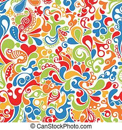 행복하다, 두루마리, 패턴