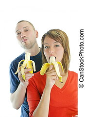 행복하다, 바나나, 한 쌍