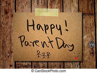 행복하다, 부모, 일, 통하고 있는, 편지지, 와, 멍청한, 배경