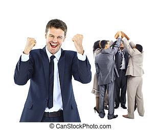 행복하다, 사업, group.