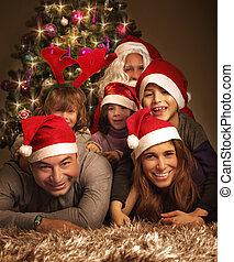 행복하다, 이브, 가족 크리스마스