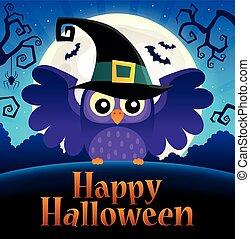행복하다, halloween, 표시, 논제의, 심상, 1