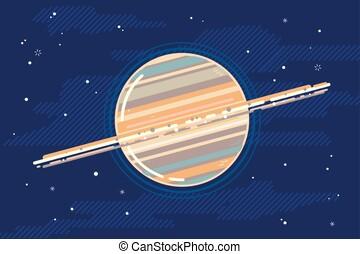 행성, 바람 빠진 타이어, 스타일, 토성, 공간