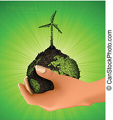 행성, 손, 녹색