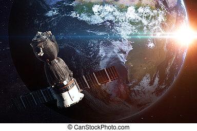 행성, -, 심상, system., nasa., 성분, 태양의, 이것, 3차원, 공급된다, 결의안, 은 선물한다, 높은, 심상, 지구