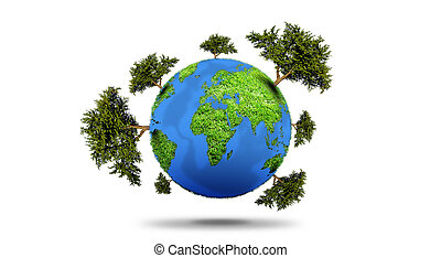행성, 와, 나무