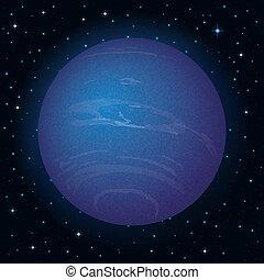 행성, 해왕성, 공간