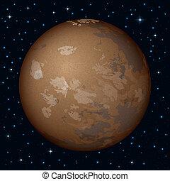 행성, 화성, 공간
