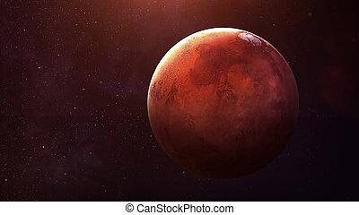 행성, -, planet., 심상, 체계, 질, 성분, nasa., 모든 것, 태양의, 이것, available., 공급된다, 결의안, 높은, 화성, 최선
