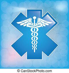 헤르메스의 지팡이, 의학 상징