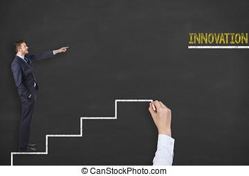 혁신, 은 족답한다, 개념, 통하고 있는, 칠판