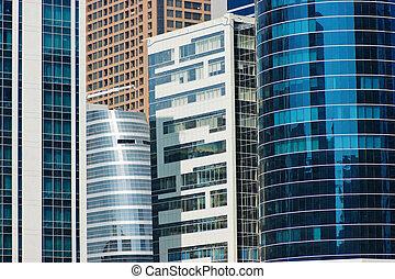 현대, 건물, 에서, dubai
