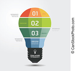 현대, 디자인, 빛, 최소의, 스타일, infographic, 본뜨는 공구, /, 양철통, 이다, 사용된다,...