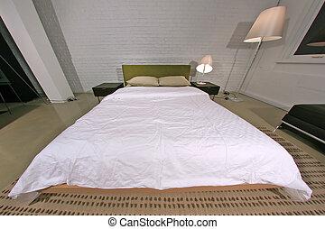 현대, 유행, 침실, -, 실내 디자인