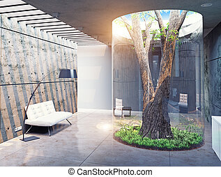 현대, 집, 내부