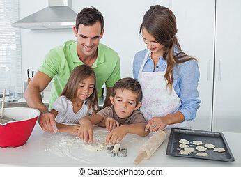 형제자매, 가정의 부엌, 함께, 빵 굽기