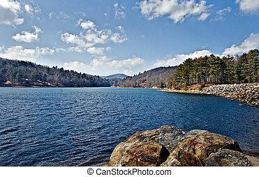 호수, 보이는 상태