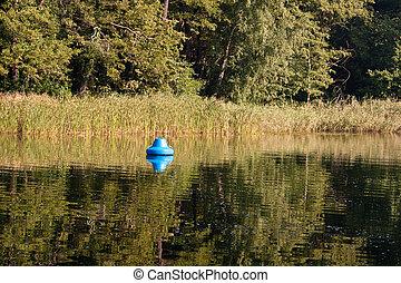 호수, 에서, 여름