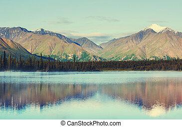 호수, 통하고 있는, 알래스카