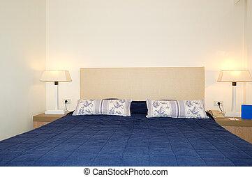 호텔, crete, 그리스, 사치, 침실