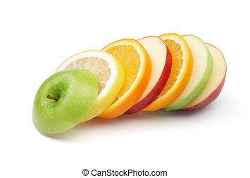 혼합한 과일