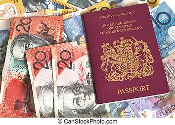 혼합, 의, 유러, 와..., a, 여권