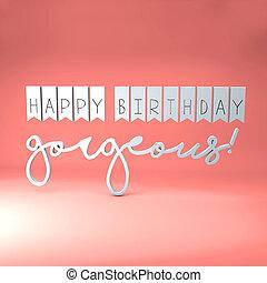 화려한, 생일, 행복하다, 메시지