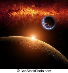 화성, 지구