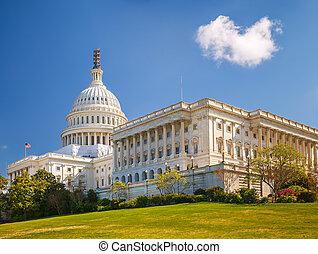 화창한 날, 미국 미 국회의사당