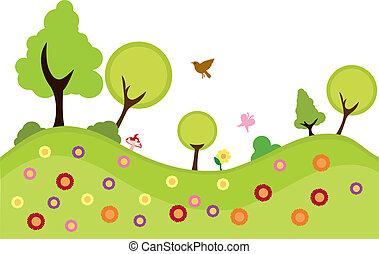 환경, 식물, 배경